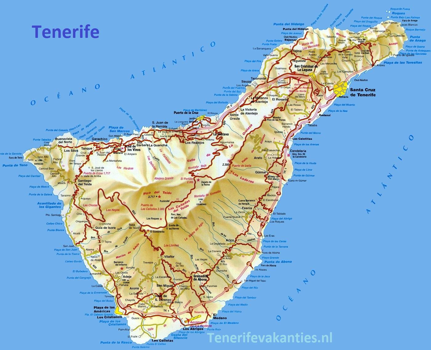 spaanse eilanden op kaart
