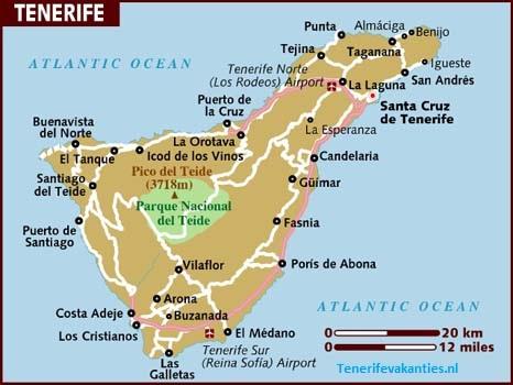 Tenerife landkaart